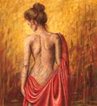 Girl with Red Cloth
